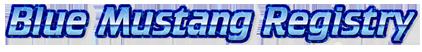 Blue Mustang Registry